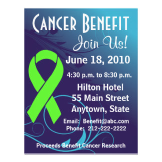 Personalize Cancer Benefit  Non-Hodgkin's Lymphoma Flyer Design