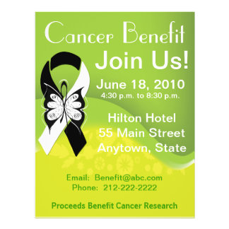 Personalize Carcinoid Cancer Fundraising Benefit Full Color Flyer