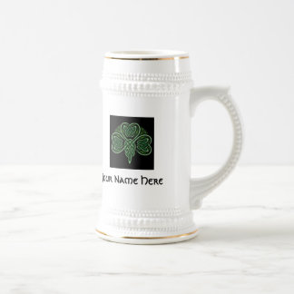 Personalize Celtic Knot Shamrock Stein