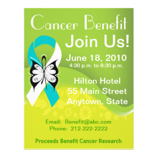 Personalize Cervical Cancer Fundraising Benefit Flyer