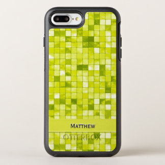 Personalize: Chartreuse Decorative Tile Pattern OtterBox Symmetry iPhone 8 Plus/7 Plus Case