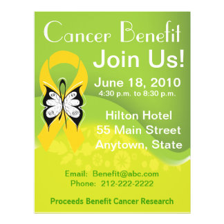 Personalize Childhood Cancer Fundraising Benefit Flyer