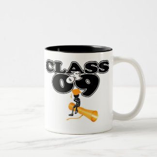 PERSONALIZE CLASS OF 09 GRAD Two-Tone COFFEE MUG