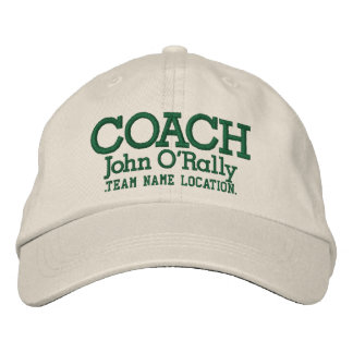 Personalize Coach Cap Your Name Your Game Embroidered Baseball Caps