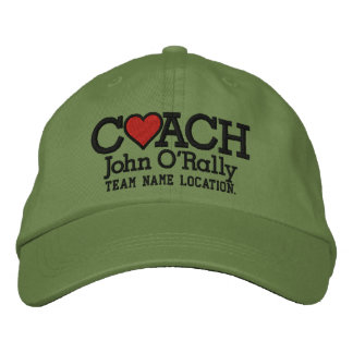 Personalize Coach Love Cap Your Name Your Game! Embroidered Baseball Cap