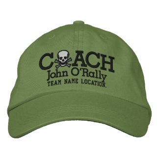 Personalize Coach Skull Cap Your Name Your Game! Embroidered Hats