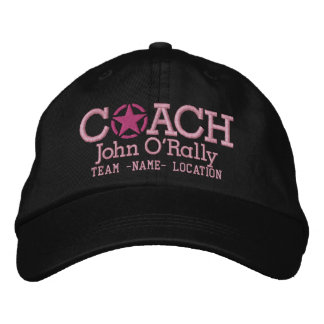 Personalize Coach Star Hat Your Name Your Game! Baseball Cap