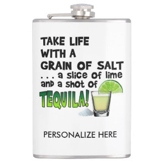 PERSONALIZE COCKTAIL FLASK - LIME, SALT, TEQUILA!