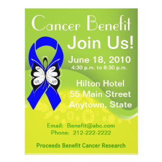 Personalize Colon Cancer Fundraising Benefit Personalized Flyer