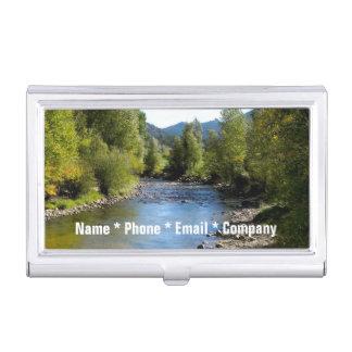 (Personalize) Colorado Stream photo - Estes Park Business Card Case