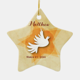 Personalize Confirmation Congratulations Gift Coll Ceramic Star Ornament