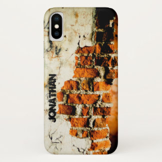 Personalize Cool White orange Broken brick wall Case-Mate iPhone Case