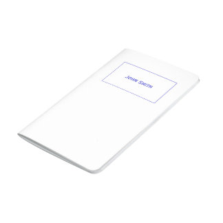 Personalize: Corporate Blue and White Minimalist Journal