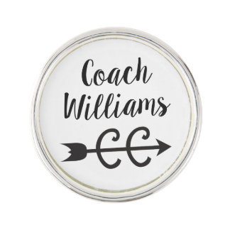 Personalize Cross Country Coach Lapel Pin