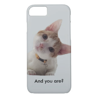 Personalize Curious Kitten on Your Smartphone iPhone 7 Case