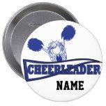 Personalize Cute Dark Blue Cheerleader Girl