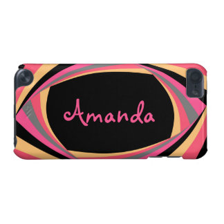 Personalize CUTE Pink Yellow Black Stylish Chic iPod Touch 5G Case