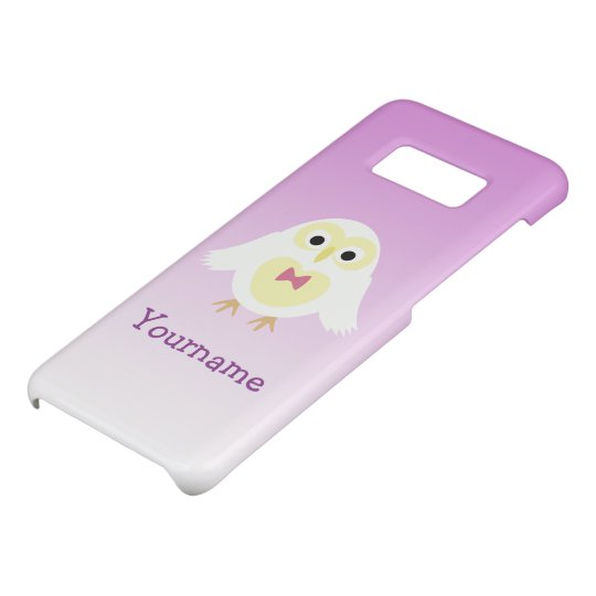 Personalize Cute White Pink Ombre Owl Your name Case-Mate Samsung Galaxy S8 Case