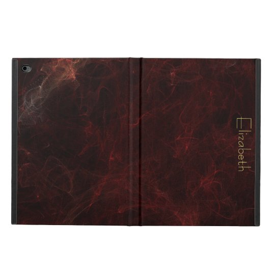 Personalize Elegant Burgundy Marble Abstract