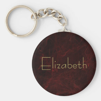 Personalize Elegant Smoke and Fire Abstract Keychain