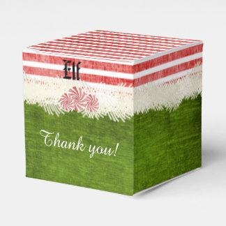 Personalize: Elf Fun Christmas Party Theme Favor Boxes
