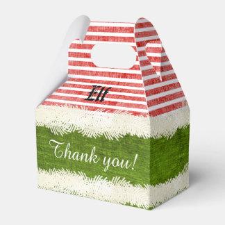Personalize: Elf Fun Christmas Party Theme Wedding Favor Box