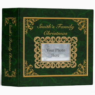 Personalize Emerald Christmas Album Binder