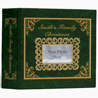 Personalize Emerald Christmas Album Binders
