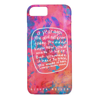 Personalize Encouraging quote abstract art case