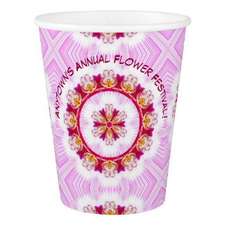 Personalize Event Name - Purple Orchid Photography Paper Cup