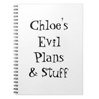 Personalize Evil Plans & Stuff Notebook