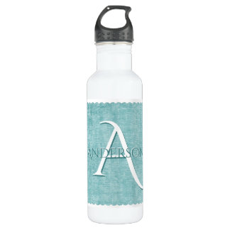Personalize: Faux Aqua Chenille Textured Look 710 Ml Water Bottle