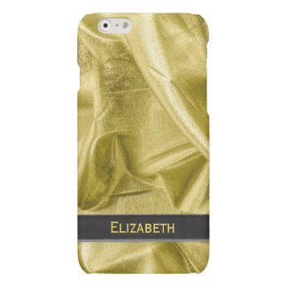 Personalize:  Faux Black and Gold Lame' Metallic