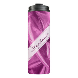Personalize:  Faux Purple Orchid Lame' Metallic Thermal Tumbler