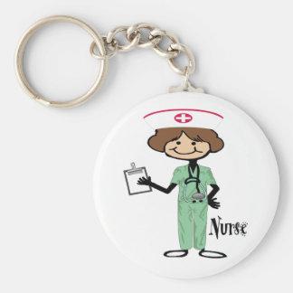 Personalize Female Nurse Keychain