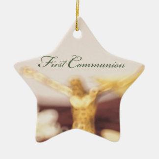 Personalize, First Communion Congratulations Ceramic Ornament
