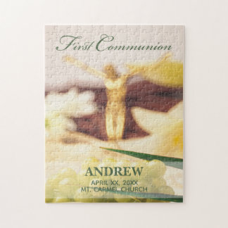 Personalize, First Communion Congratulations Jigsaw Puzzle