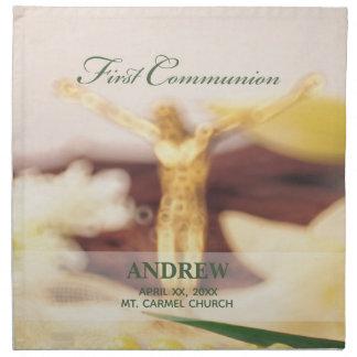 Personalize, First Communion Congratulations Napkin