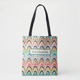 Personalize Flame Stitch Pattern Tote
