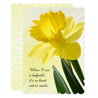 Personalize Floral Photography Yellow Daffodil Pic Card