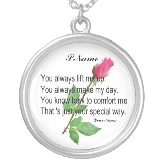 PERSONALIZE FRIEND-NECKLACE SILVER PLATED NECKLACE