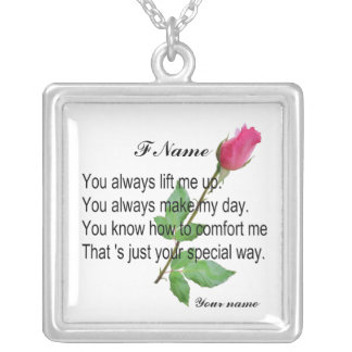 PERSONALIZE FRIEND -NECKLESS SILVER PLATED NECKLACE