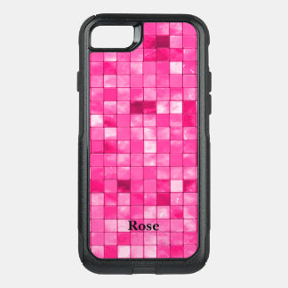Personalize:  Fuchsia Faux Ceramic Tile Pattern OtterBox Commuter iPhone 8/7 Case