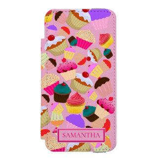 Personalize .. Fun, Bright Pink Cupcake Incipio Watson™ iPhone 5 Wallet Case