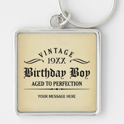 Personalize Funny Birthday Key Chains