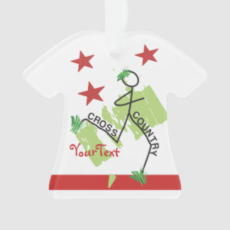 PERSONALIZE Funny Cross Country Grass Runner Stars