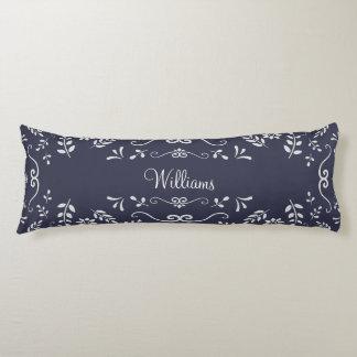 Personalize Garden Floral / Flourish Design Body Pillow