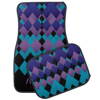 Personalize Geometric Diamond Design Floor Mat