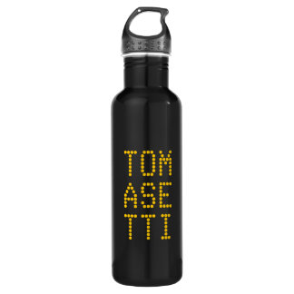Personalize:  Geometric Text Art Your Name in Dots 710 Ml Water Bottle