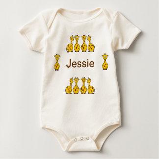 Personalize Giraffe Jessie infant baby Baby Bodysuits